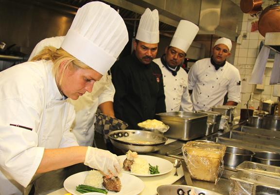 Chef Michelle Brown of Jag's Steak & Seafood in Aruba