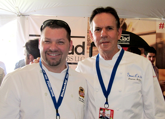 Chef Scott Popovic and Chef Thomas Keller