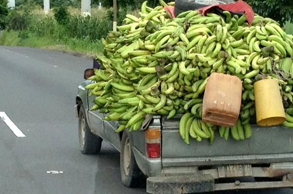 Banana truck in Guatemala