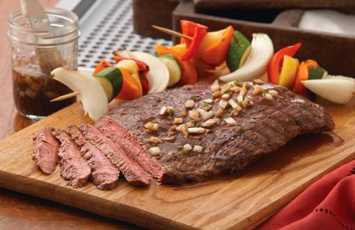 Beer marinated flank steak
