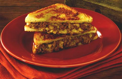 Grilled cheese & steak sandwich
