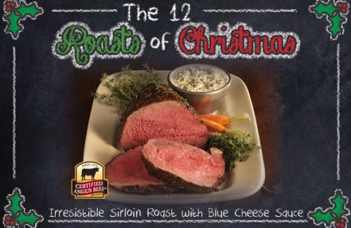 Sirloin Roast with Blue Cheese Sauce