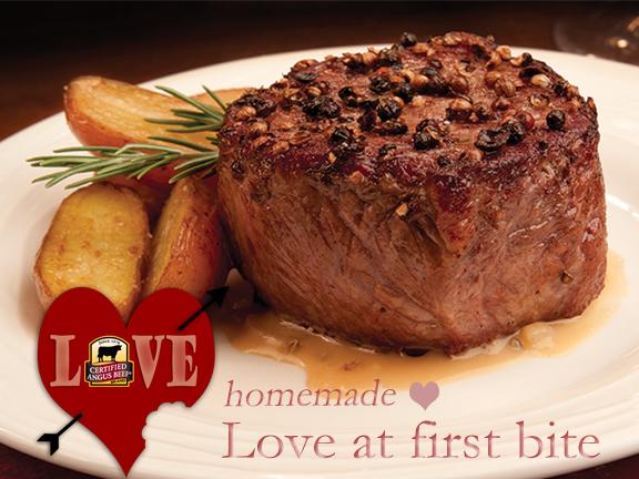 Steak Au Poivre - Love At First bite for your Valentine!