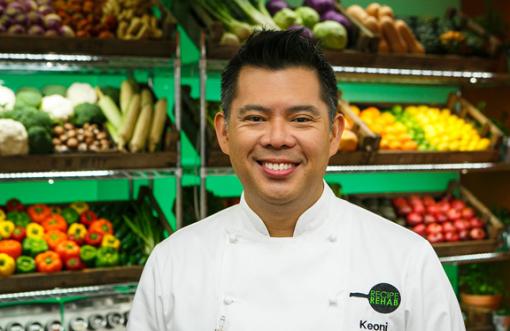 Chef Keoni Chang, competing on CBS Recipe Rehab Feb. 15.