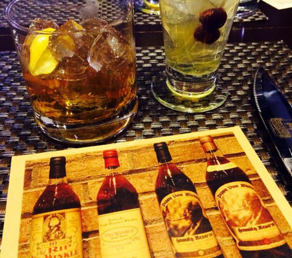 View from the table: Beef and Bourbon Dinner