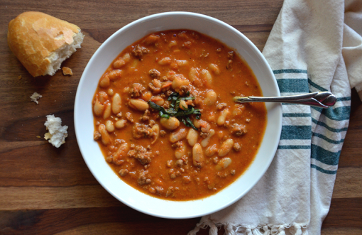 Smoked Tomato and White Bean Chili
