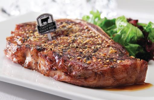 Strip Steak with 3 Pepper Rub saute recipe