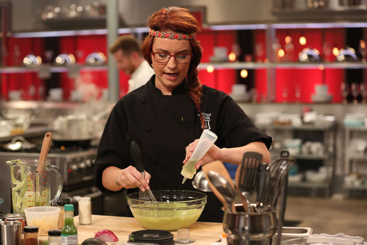 Chef Ashley Pado competes on Cutthroat Kitchen. (photo courtesy Food Network)