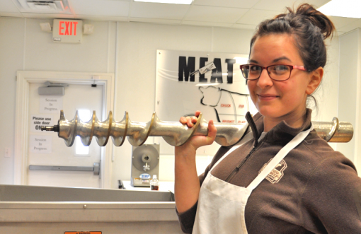 Chef Ashley and the daily grind.