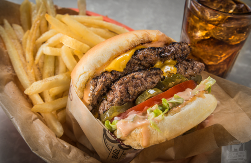 Classic Certified Angus Beef cheeseburger