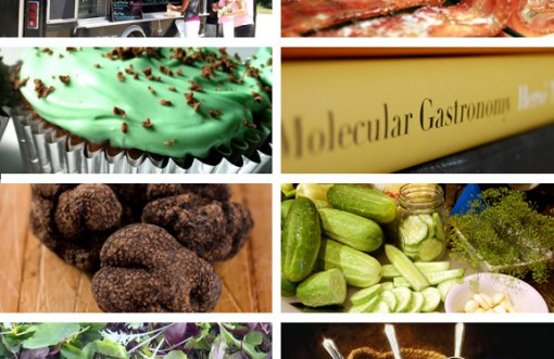 food trends coffee microgreens truffle oil bacon