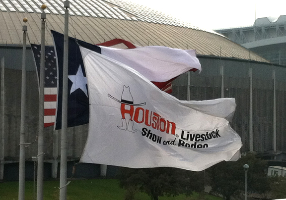 Houston Livestock Show & Rodeo flags
