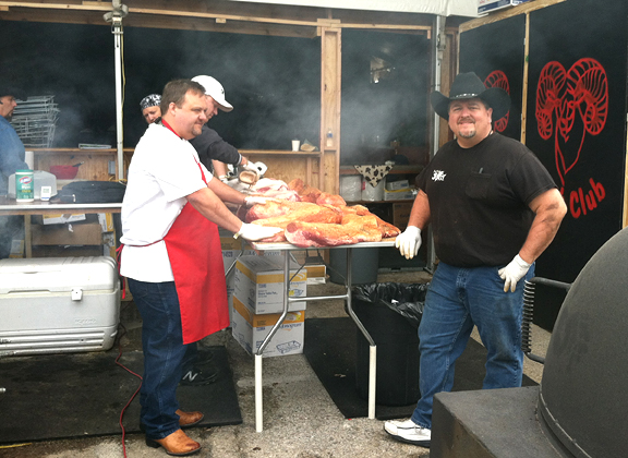 Grilling at the Houston Livestock Show & Rodea Bar-B-Que