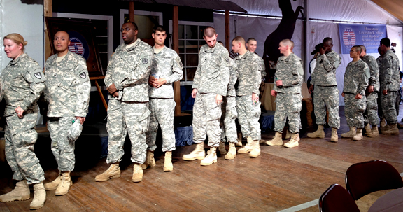 Service men and women at Houston Livestock Show & Rodeo.