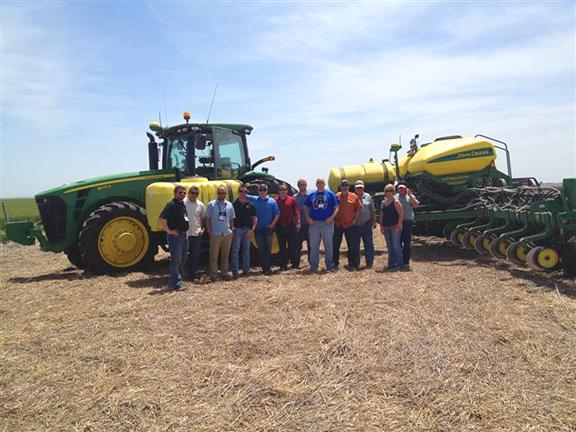 John Deere tractor and corn planter