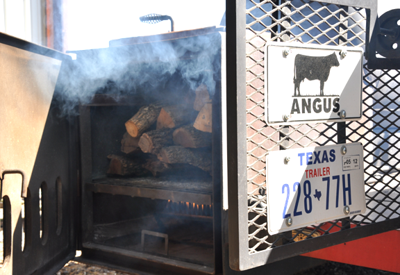 Smoker with Certified Angus Beef in Texas