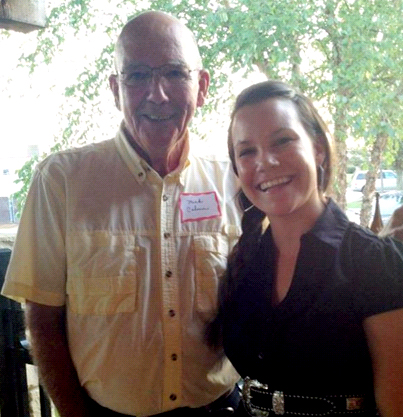 Certified Angus Beef brand founder Mick Colvin with Malorie Bankhead