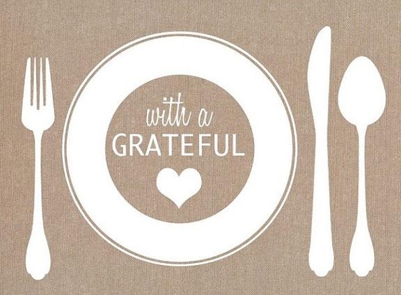 With a grateful heart place mat
