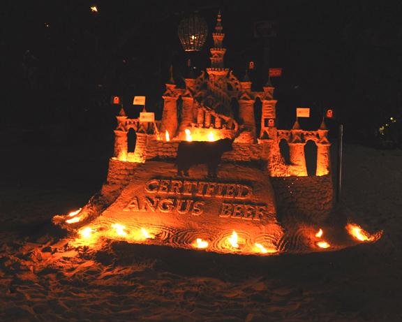 Sand castle at South Beach