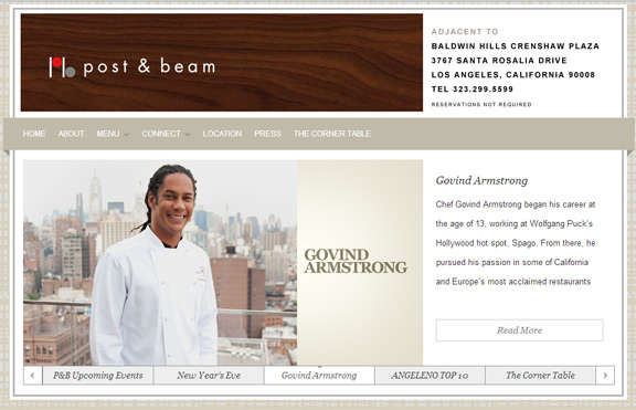 Post & Beam - Chef Govind Armstrong