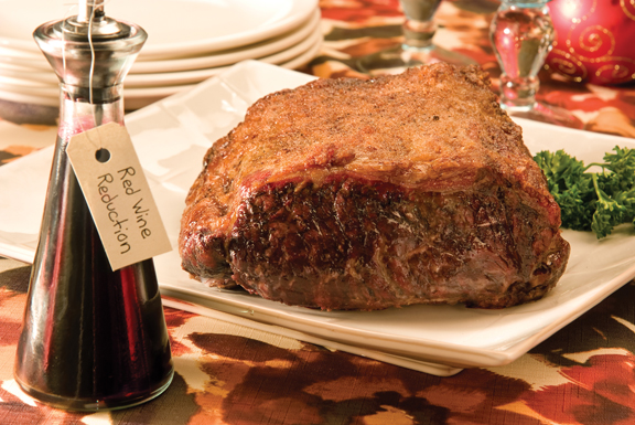 Strip Loin Roast with Red Wine Reduction