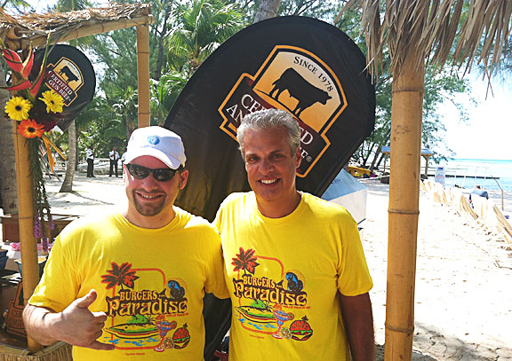 Chef Scott Popovic and Chef Eric Ripert at Cayman Cookout 2013