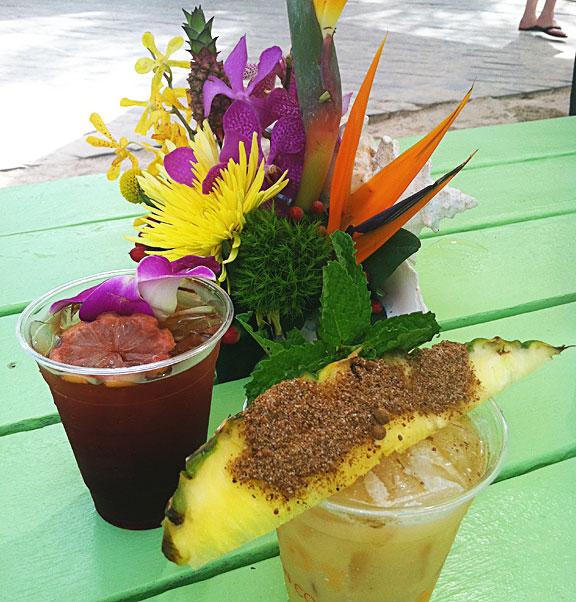 Refreshment on a hot beach