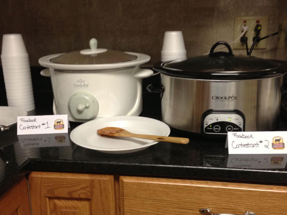 Crock-pots of chili
