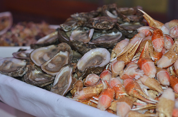 Oysters and Snow Crab Claws