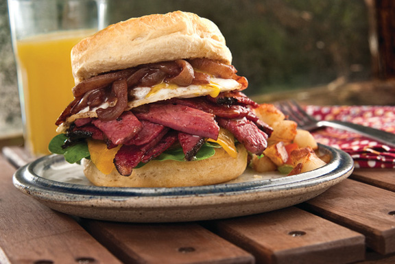 Corned Beef Biscuit Sandwich
