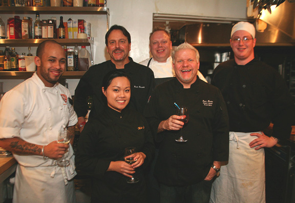 Dave Martin and staff at James Beard House Dinner