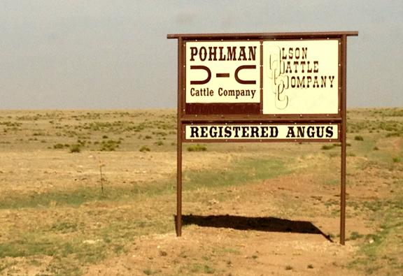 Olson Ranch Sign, Texas
