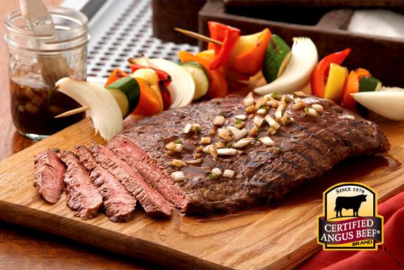 Beer-marinated flank steak