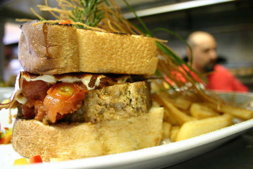 Meat loaf sandwich from Hash House A Go Go