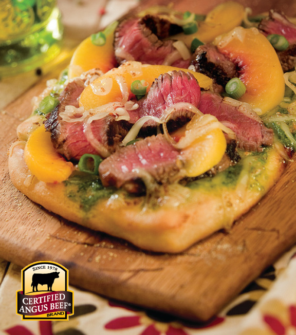 Sirloin Peach Pizza
