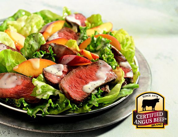 Beef & Peach Salad