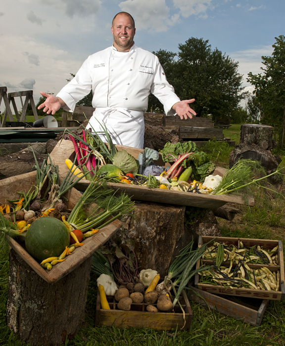 Chef Josh Moore of Volare Ristorante by photographer Dan Dry
