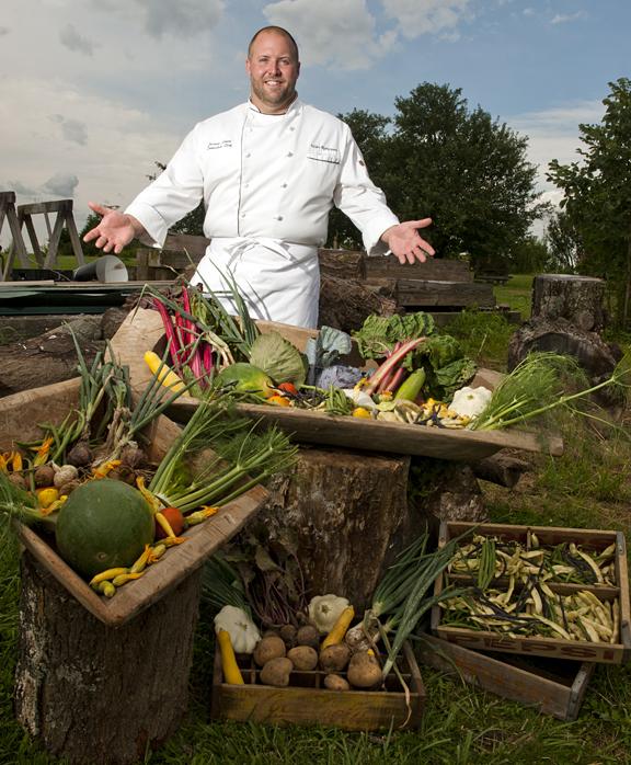 Chef Josh Moore of Volare Ristorante by photographer Dan Dry