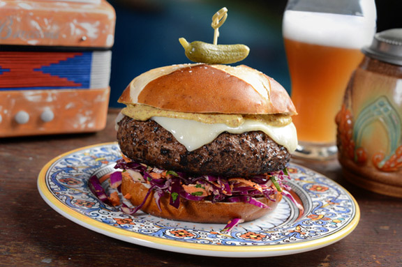 Spicy German Burger to celebrate Oktoberfest
