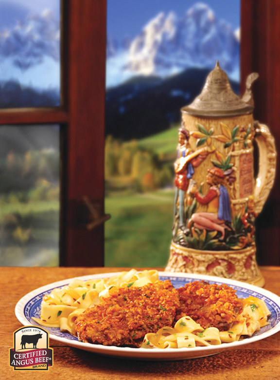 Pretzel-dusted Schnitzel for Oktoberfest