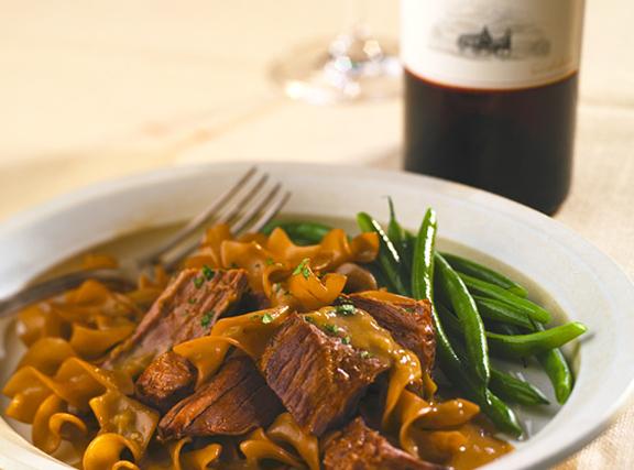 German Pot Roast with Mushroom Leek Sauce