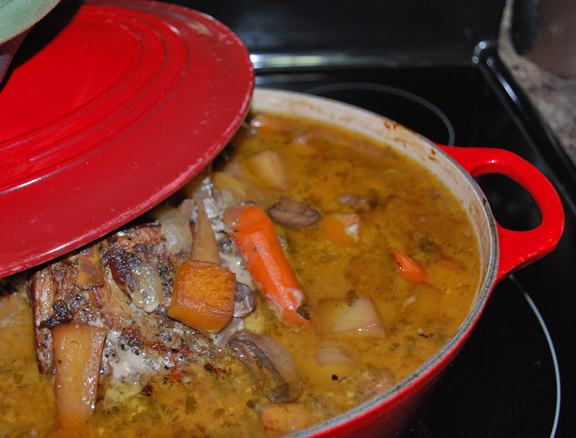 Braising a pot roast