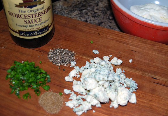 ingredients with blue cheese