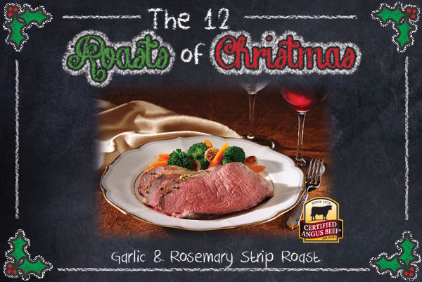Garlic and Rosemary Strip Roast
