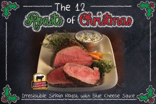 Irresistible Sirloin Roast with Blue Cheese Sauce