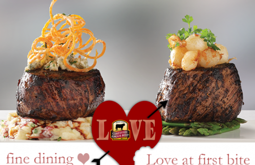 Valentine's Day - fine dining and love at first, beefy bite