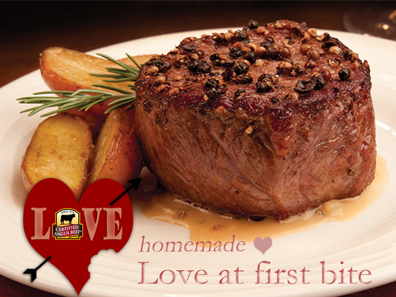 Steak Au Poivre - Love At First bite for your Valentine!