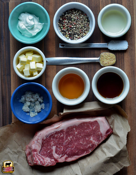 Making Steak Au Poivre for Valentine's Day