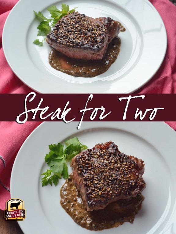 Steak Au Poivre for Two