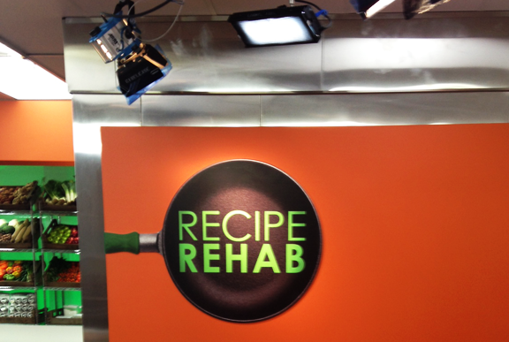 Behind the scenes and on set at Recipe Rehab